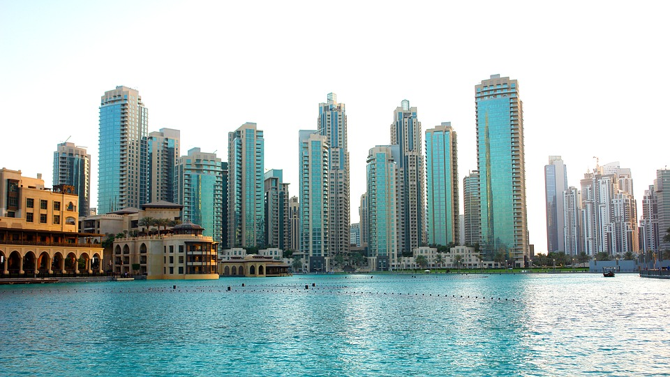Skyline Skyscrapers City Architecture Dubai Tower