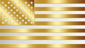 united states gold flag vector design